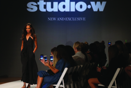 SYDNEY, AUSTRALIA - AUGUST 20:  Joan Smalls showcases designs by Studio.W during the label launch at David Jones Elizabeth Street Store on August 20, 2015 in Sydney, Australia.  (Photo by Caroline McCredie/Getty Images for David Jones)